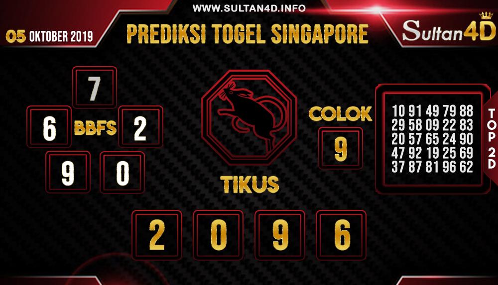 PREDIKSI TOGEL SINGAPORE SULTAN4D 05 OKTOBER 2019