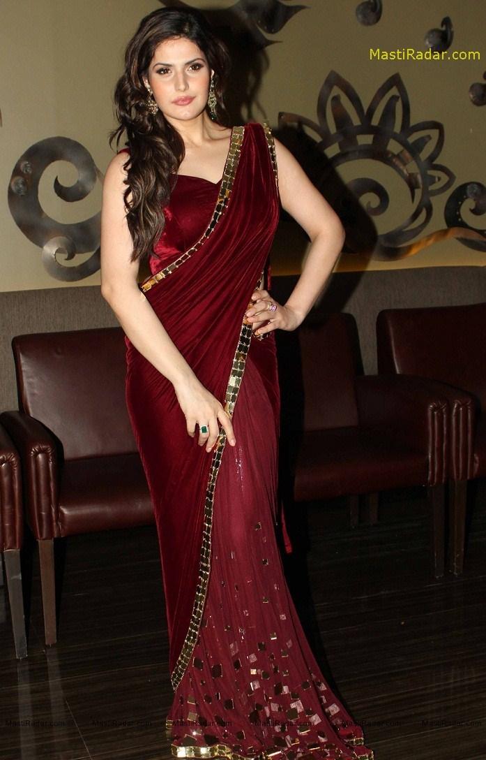 Zarine Khan Latest Hot Photos In Saree - Actresshotphotos