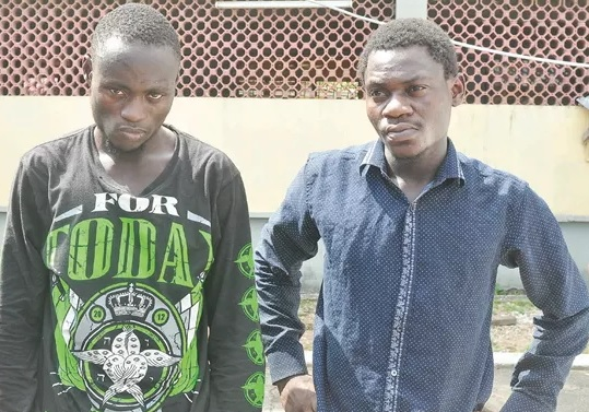 One Chance Robbery: 2 Poly Graduates Who Raped & Stabbed Lady @Her House In Ajah Lagos Arrested
