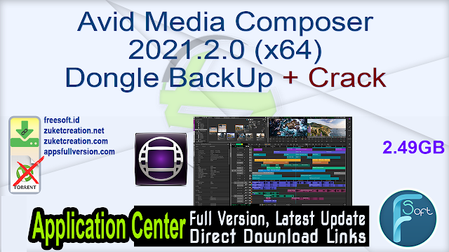 Avid Media Composer 2021.2.0 (x64) Dongle BackUp + Crack
