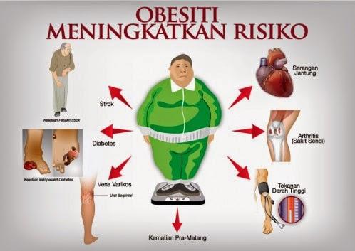 obesiti meningkatkan risiko sakit