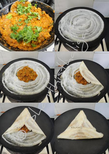 Peas masala roast, Restaurant style peas masala roast, Annapoorna style peas masala roast