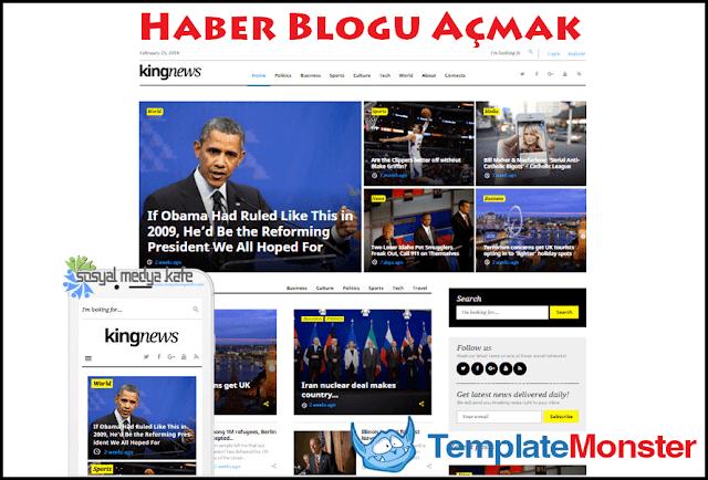 Haber Blogu Açmak