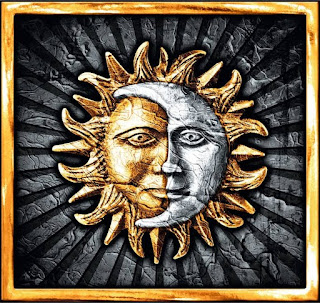 Weinetikett Sonne und MondRiesling