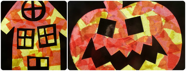 Simple Halloween window decoration craft