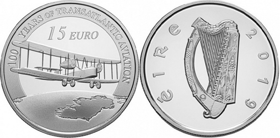 Ireland 15 euro 2019 First Transatlantic Flight