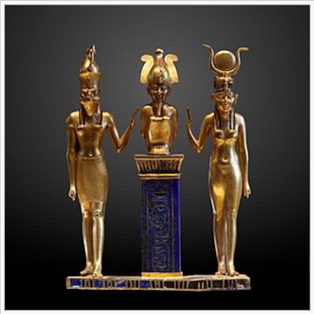 Egyptian Pagan Trinity three gods.