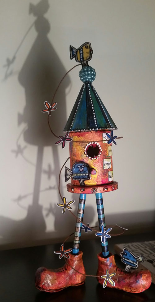 Catherine Johnson birdhouse project