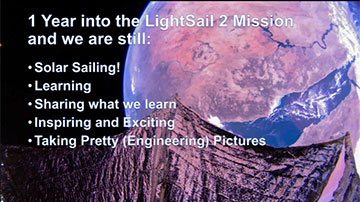 LightSail 2: Celebrating One Year in Space (Source: https://www.planetary.org/)