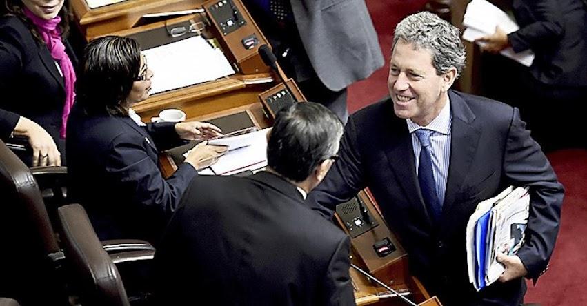 Congreso vota hoy cuestión de confianza de Ministro de Economía y Finanzas, Alfredo Thorne