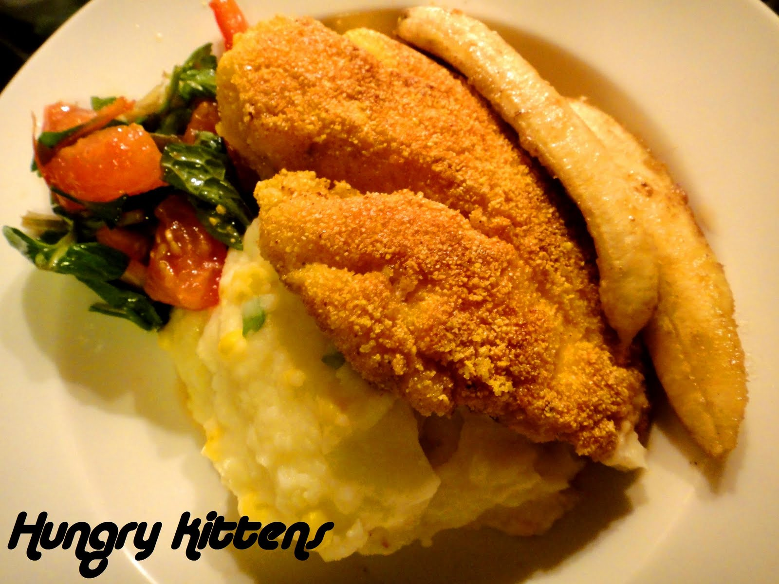 Hungry Kittens: Jamie Oliver's Polenta-crusted Chicken with