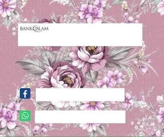 Koleksi Template Akaun Bank Versi Cute Dan Bunga Bunga