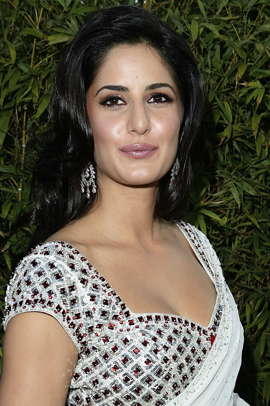 Katrina Kaif Sexy Cleavage Show In Saree At The Opening -2478