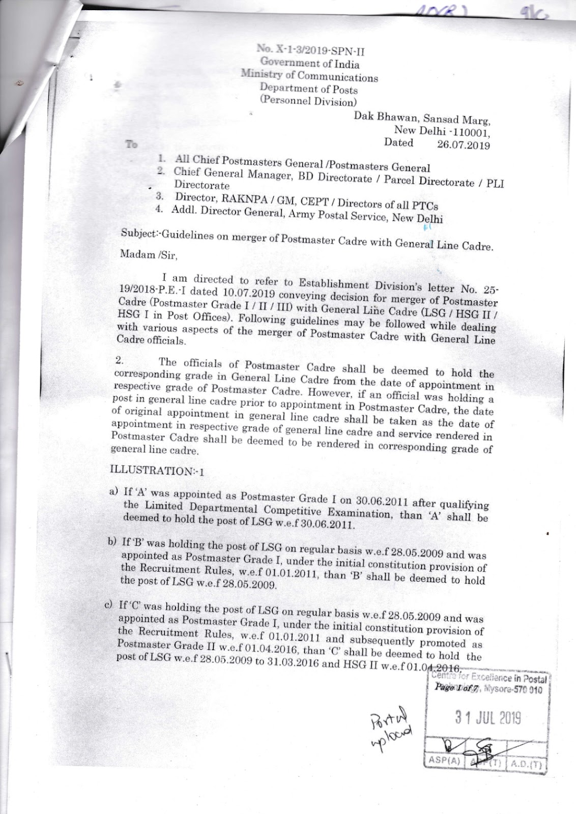 Eligibility for exam of IPO