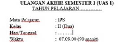 Soal UAS Semester 1 IPS Kelas 2 Dan Kunci Jawabannya