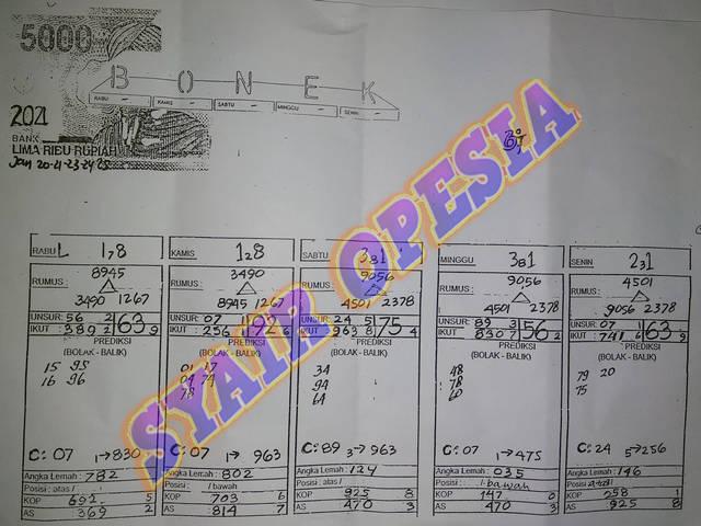 GAMBAR SYAIR TOGEL SGP