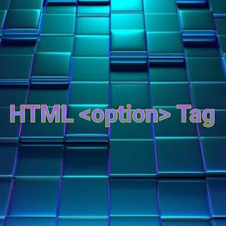 HTML <option> tag