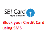 Block SBI Credit Card through SMS