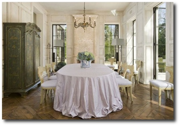 Beautiful French dining room by Pam Pierce