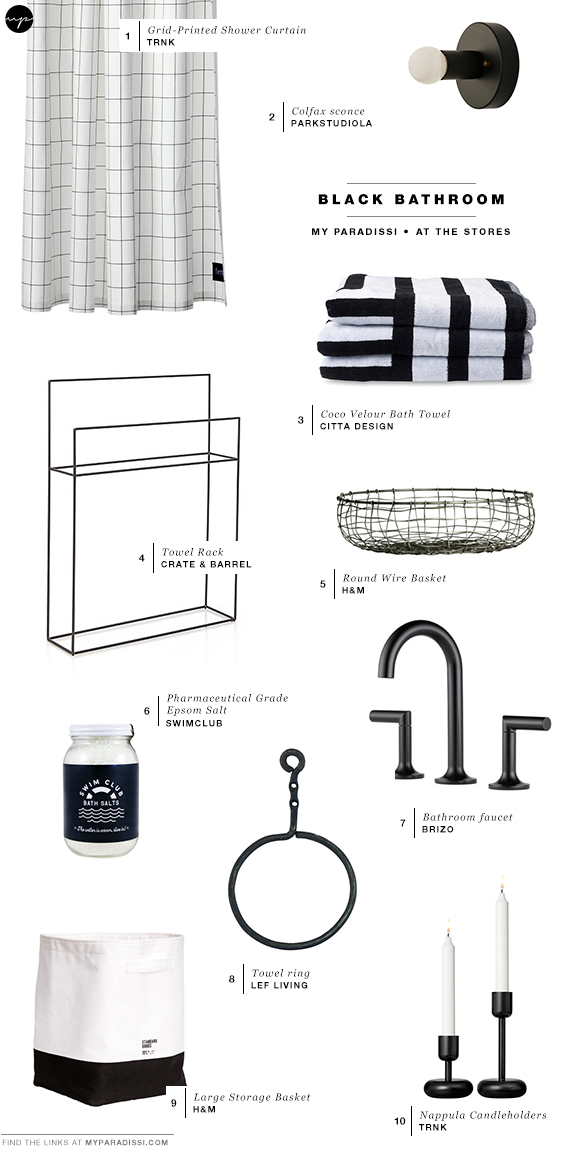 Black bathroom bliss | Shopping picks
