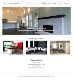 website untuk perumahan