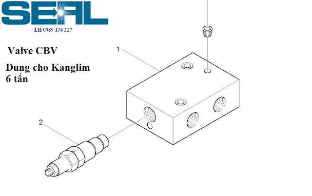 Cụm Valve cân bằng chống tụt xy lanh ra vào cần Kanglim 6 tấnKS1253-KS1254-KS1255-KS1256- H1085421