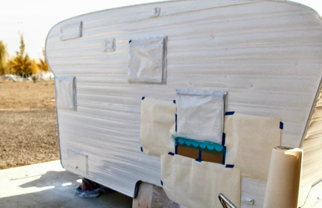 How to Paint a Vintage Trailer for Under $60