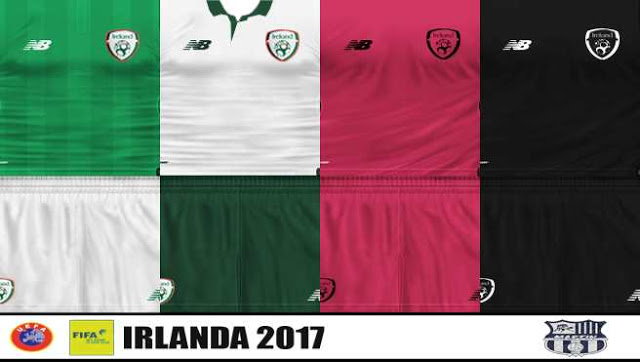 PES6 New Irland Kit 17-2018 By Martin
