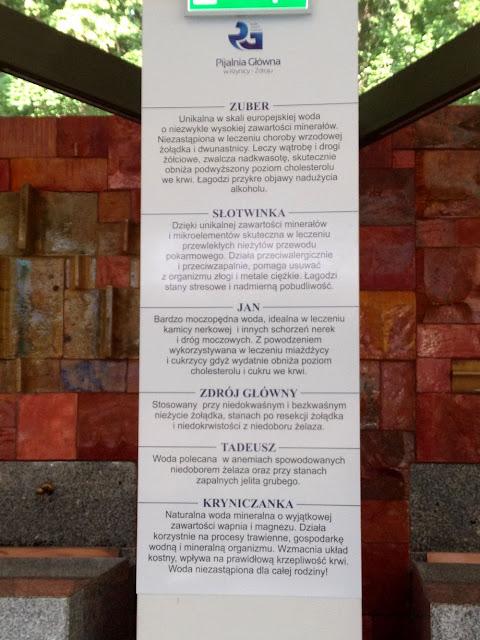 wody mineralne w Krynicy