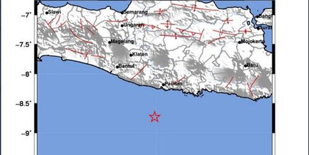 Jelang Subuh, Pacitan Diguncang Gempa Magnitudo