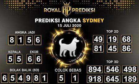 Royal Prediksi Sydney Rabu 15 Juli 2020