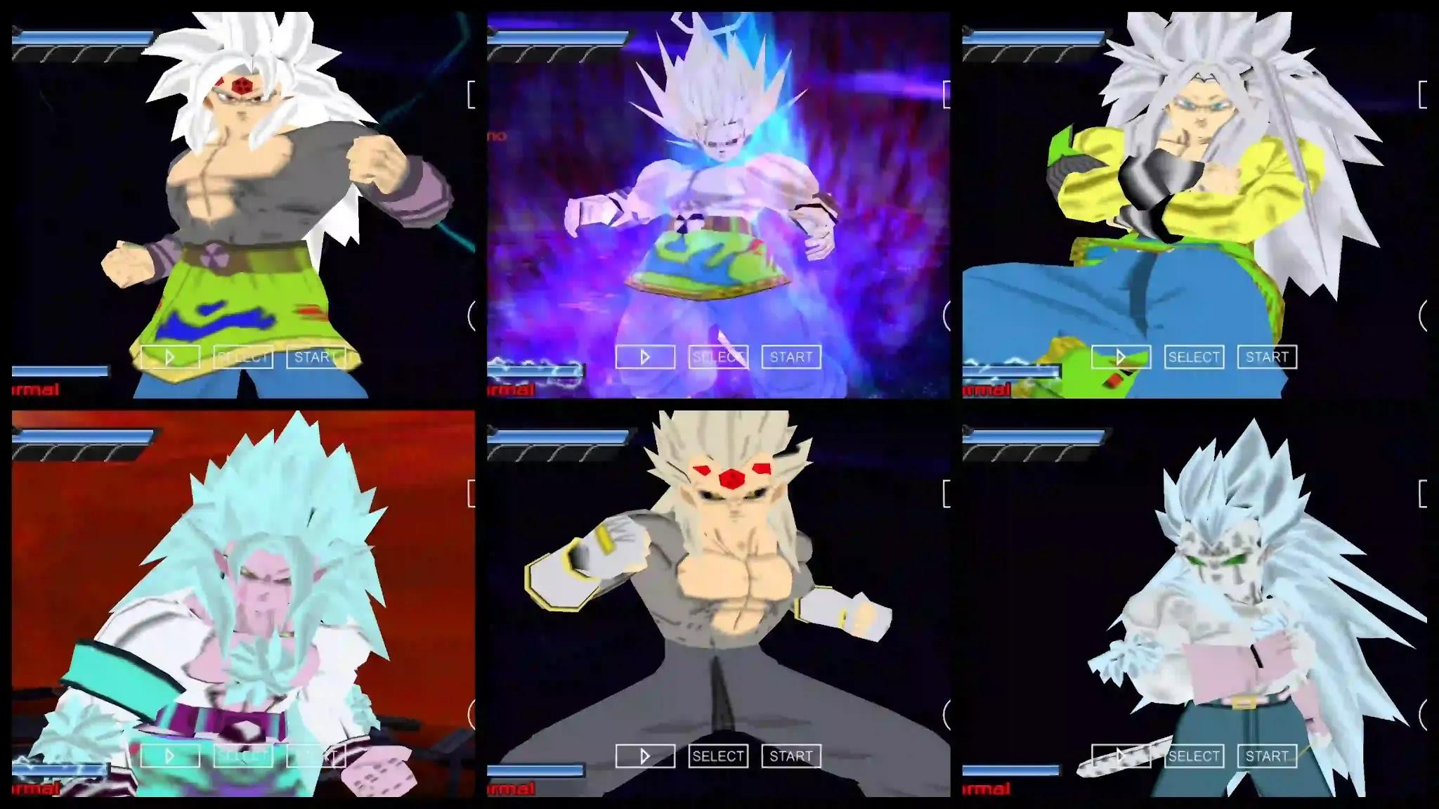 Dragon Ball AF Goku and Vegeta all Forms