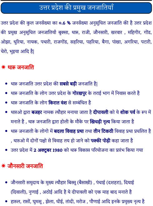 उत्तर प्रदेश की प्रमुख जनजातियां पीडीऍफ़ पुस्तक | UP Ki Pramukh Janjatiya PDF Book Download Free in Hindi