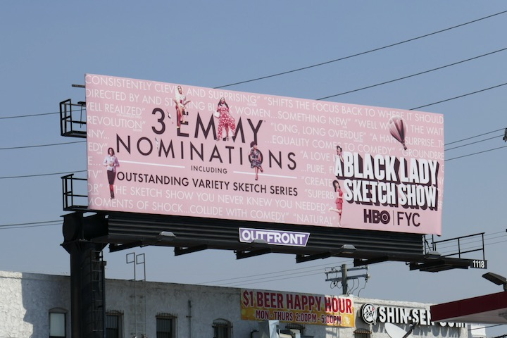 Black Lady Sketch Show 2020 Emmy billboard