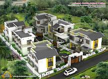 2 Types Of Villa Home Plans - Kerala Design And Floor