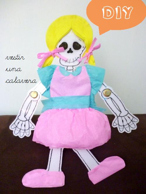 Manitas De Gato Día De Muertos Vestir Una Calavera
