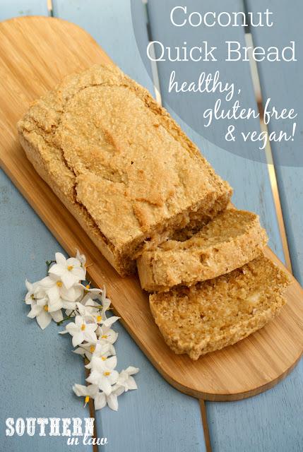 Healthy Coconut Quick Bread Recipe - low fat, gluten free, vegan, egg free, dairy free, clean eating, low fat, traditional Norfolk Island recipes