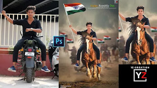 photoshop tutorials India RepublicDay special in photoshop cc | Yzcreation