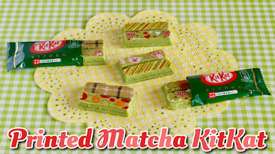 Kawaii Printed Matcha KitKat
