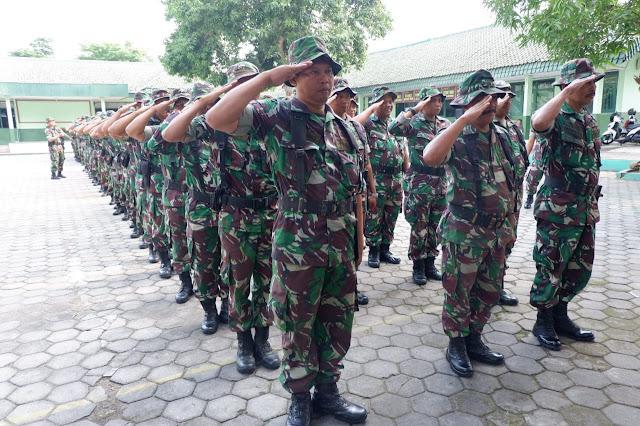 KodimKaranganyar - Kodim Karanganyar Pelihara Kedisiplinan Prajurit Melalui Latihan PPM