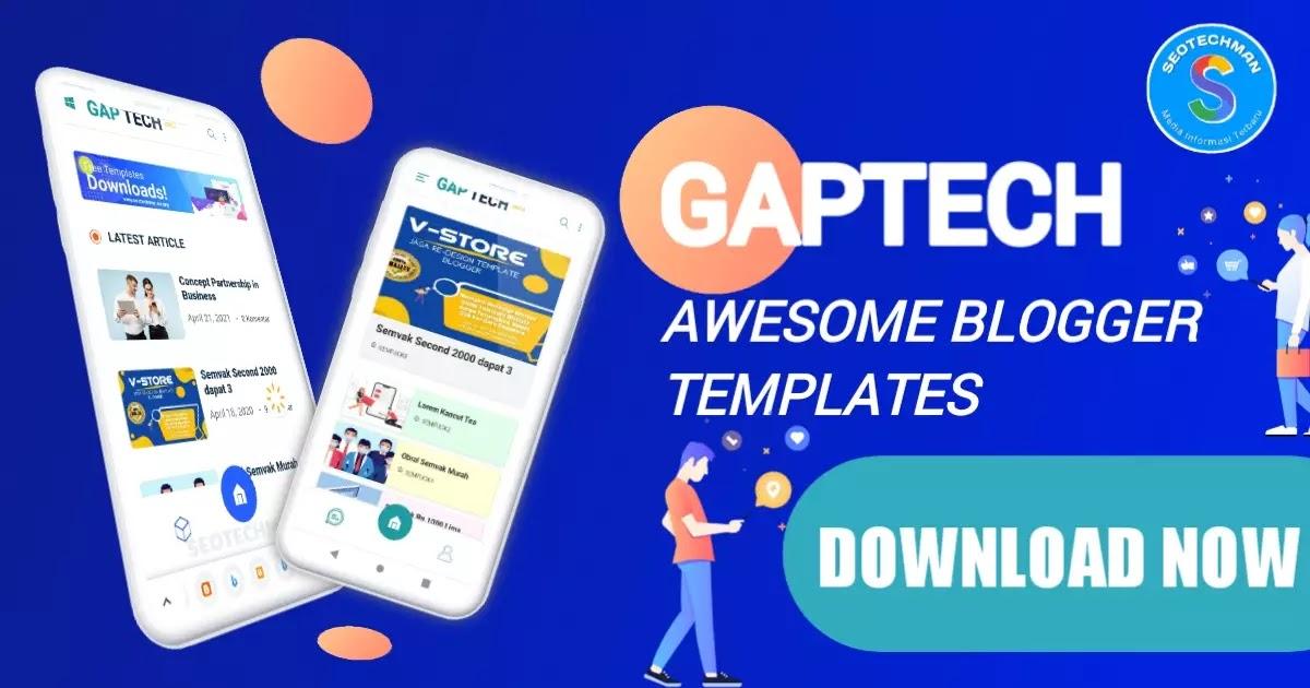 Gaptech - Responsive Blogger Template