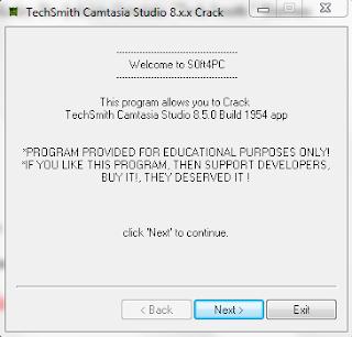 camtasia studio techsmith yazısı kaldırma