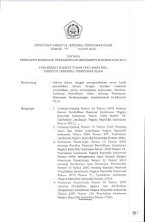 SK Penetapan Madrasah Pendampingan K13