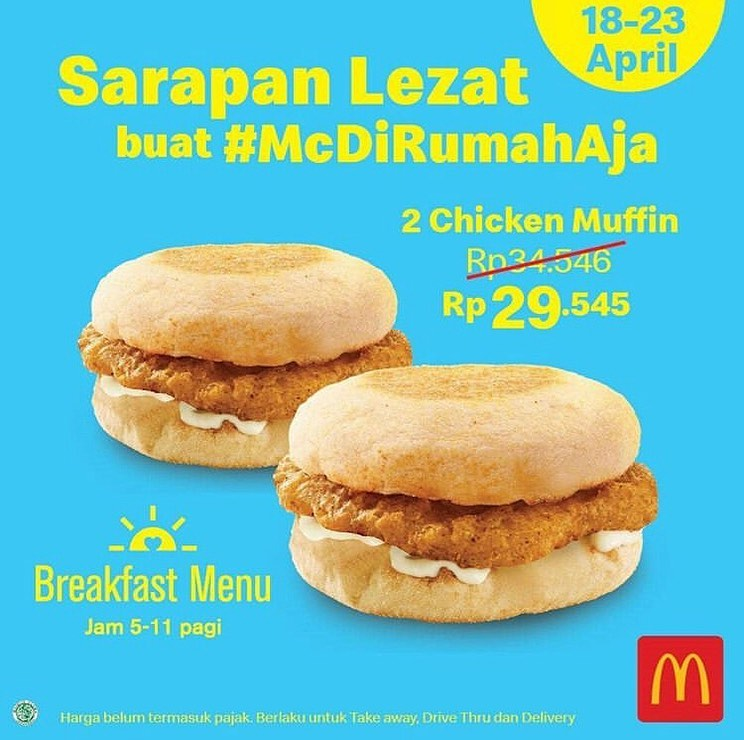 Promo McDonalds! Menu Sarapan Lezat 18 - 23 April 2020