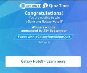 amazon today quiz samsung galaxy note 8 tricksstore 1