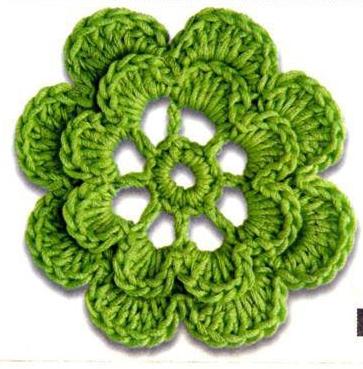 Patrón #1629: Flor a Ganchillo