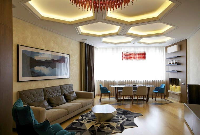 10 functional modern ceiling lights for all rooms - Modern living room ceiling lights ...