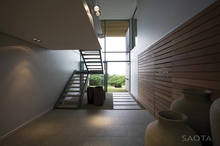 Hallway and stairs in Beautiful Plett 6541+2 Home by SAOTA