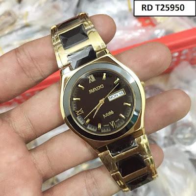 Đồng hồ đeo tay nam mặt tròn dây đá ceramic RD T25950