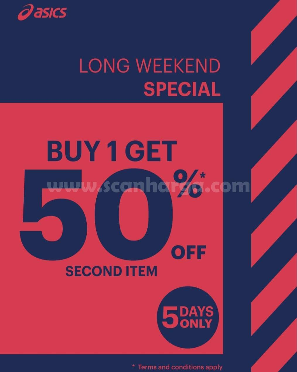 ASICS Special Promo Long Weekend – Buy One Get One Discount 50% Off